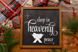 Sleep in Heavenly Peace Premium Cut File for your Cricut & Silhouette Cutting Machines. File Formats are SVG | DXF | EPS | Ai