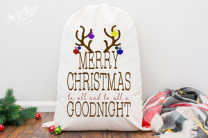 Merry Christmas to all Goodnight Premium Cut File for your Cricut & Silhouette Cutting Machines. File Formats are SVG | DXF | EPS | Ai