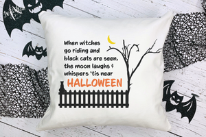 Premium Cut File Halloween Witches go riding black cats SVG | DXF for Cricut & Silhouette