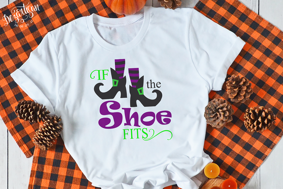 Premium Cut File Halloween Witch if the shoe fits  SVG | DXF for Cricut & Silhouette