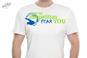 DZA0047A Swimming Fear the Competition Premium Cut files for your Cricut or Silhouette Cutting Machines. File formats include SVG | DXF | EPS | Ai.