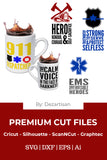 DZA0057 Civil Service Bundle Premium Cut files for your Cricut or Silhouette Cutting Machines. File formats include SVG | DXF | EPS | Ai.