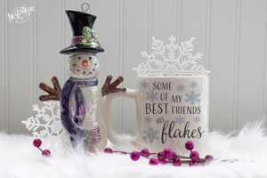 My best friends are flakes Premium Cut File for your Cricut & Silhouette Cutting Machines. File Formats are SVG | DXF | EPS | Ai