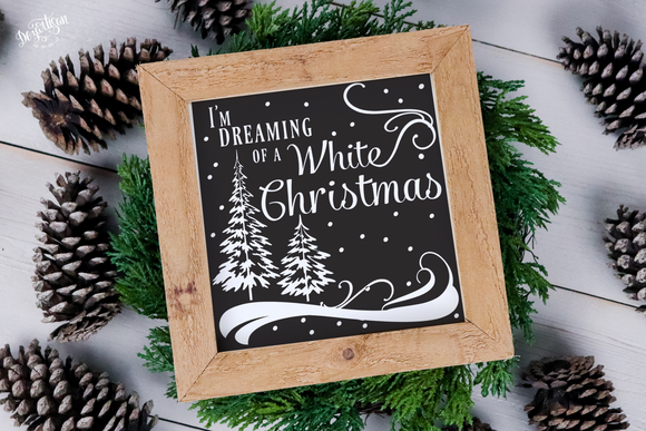 I'm dreaming of a white Christmas Premium Cut File for your Cricut & Silhouette Cutting Machines. File Formats are SVG | DXF | EPS | Ai