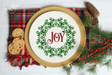 Christmas Wreath Joy Premium Cut File for your Cricut & Silhouette Cutting Machines. File Formats are SVG | DXF | EPS | Ai