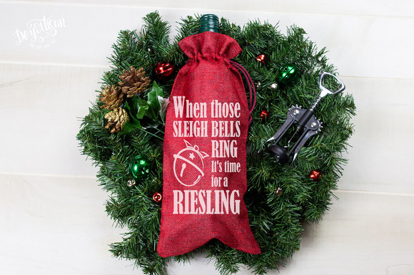 Sleigh Bells Ring Riesling Premium Cut File for your Cricut & Silhouette Cutting Machines. File Formats are SVG | DXF | EPS | Ai