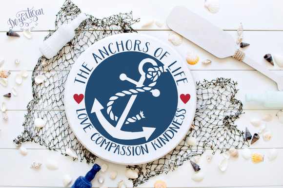 DZA135  The anchors of life SVG | DXF Cut File