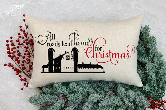 All roads lead home for Christmas Premium Cut File for your Cricut & Silhouette Cutting Machines. File Formats are SVG | DXF | EPS | Ai