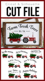Christmas Tree Tractor Bundle Premium Cut File for your Cricut & Silhouette Cutting Machines. File Formats are SVG | DXF | EPS | Ai