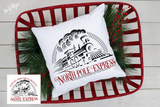 Santa North Pole Express Train Premium Cut File for your Cricut & Silhouette Cutting Machines. File Formats are SVG | DXF | EPS | Ai