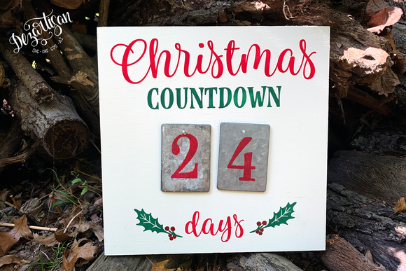 Christmas Countdown Advent Calendar Premium Cut File for your Cricut & Silhouette Cutting Machines. File Formats are SVG | DXF | EPS | Ai