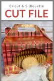 3D Christmas Cookie Candy Box Premium Cut File for your Cricut & Silhouette Cutting Machines. File Formats are SVG | DXF | EPS | Ai