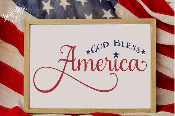 God Bless America Patriotic Fourth of July Premium Cut Files SVG | DXF Cricut Silhouette