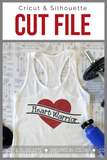Heart Warrior Premium Cut File for your Cricut & Silhouette Cutting Machines. File Formats are SVG | DXF | EPS | Ai