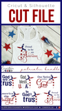 In God I trust God Bless America Premium Cut SVG | DXF Cricut Silhouette Cut Files