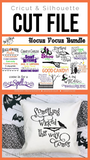 Hocus Pocus Bundle Premium Cut File for your Cricut & Silhouette Cutting Machines. File Formats are SVG | DXF | EPS | Ai