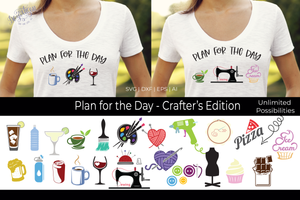 Plan of the Day Crafter's Editon SVG | DXF Cricut Silhouette Cut Files