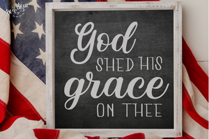 God Shed his Grace Premium Cut File SVG | DXF Cricut Silhouette Cut Files