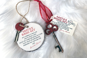 Santa's Magic Key Premium Cut File for your Cricut & Silhouette Cutting Machines. File Formats are SVG | DXF | EPS | Ai