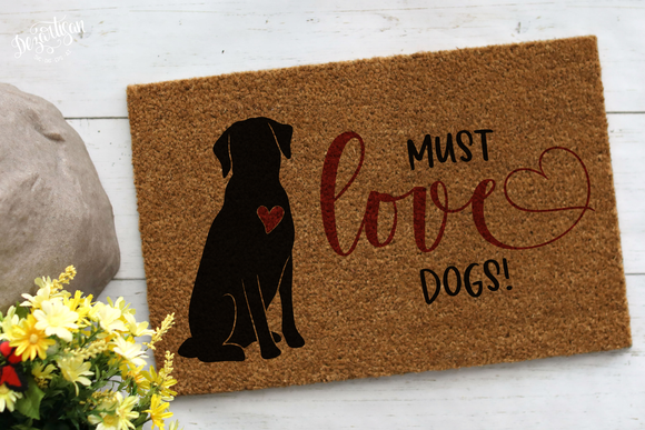 Must Love Dogs SVG and DXF Print N cut ready files for Cricut & Silhouette