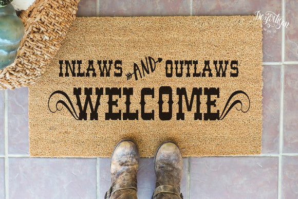 Inlaws and Outlaws Welcome SVG | DXF Premium Cut File