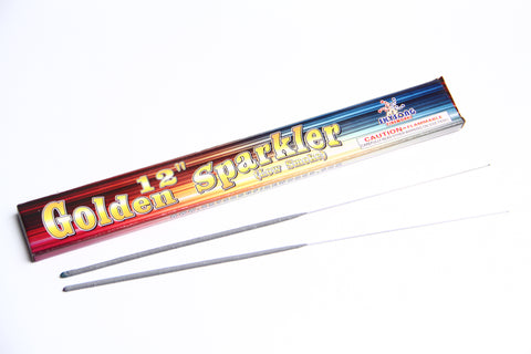 "12"" Golden Sparkler Low Smoke 12 Boxes / 96 pcs Pack"