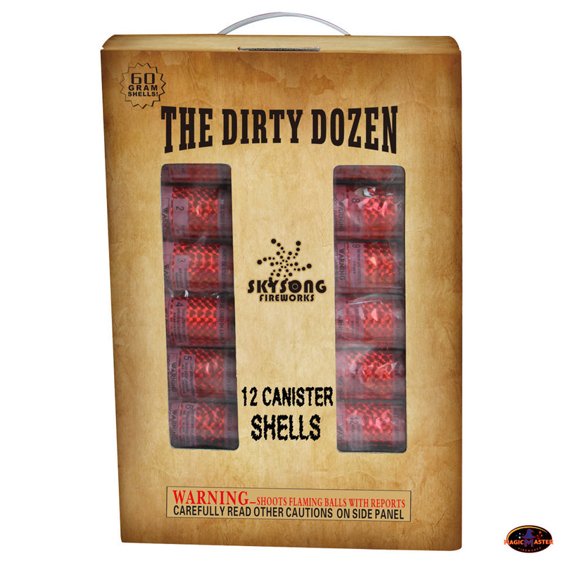 The Dirty Dozen 60gm Canister Shell 12 pcs Pack