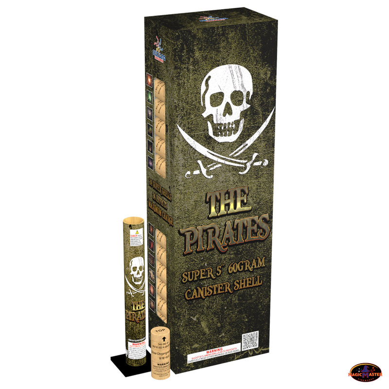 "The Pirates 60gm 5"" Canister Shells 24 pcs Pack"