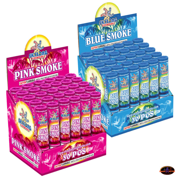 Pink & Blue Smoke Fountain 6 pcs Pack for Gender Reveal