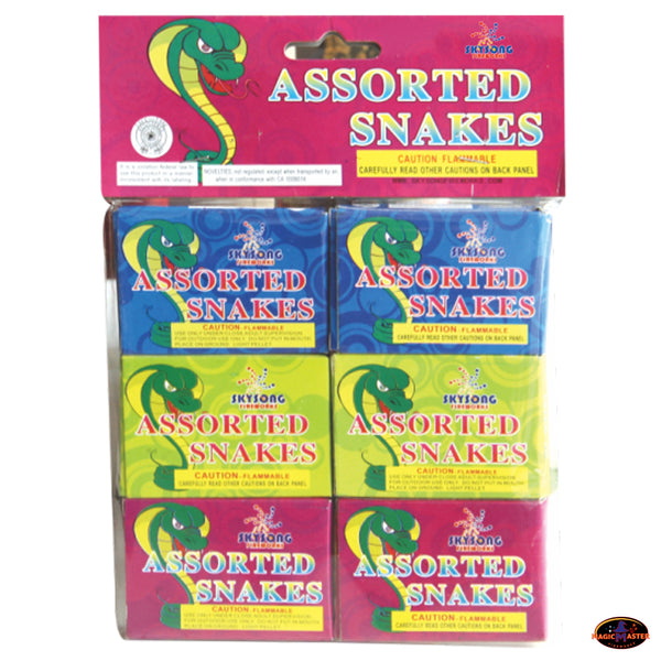 Assorted Snakes 5 Bags / 30 Boxes / 180 pcs Pack