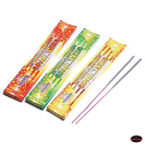 "10"" Colour Bamboo Sparklers 12 boxes / 96 pcs Pack"