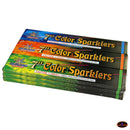 "7"" Color Sparklers  12 Boxes / 72 pcs Pack"