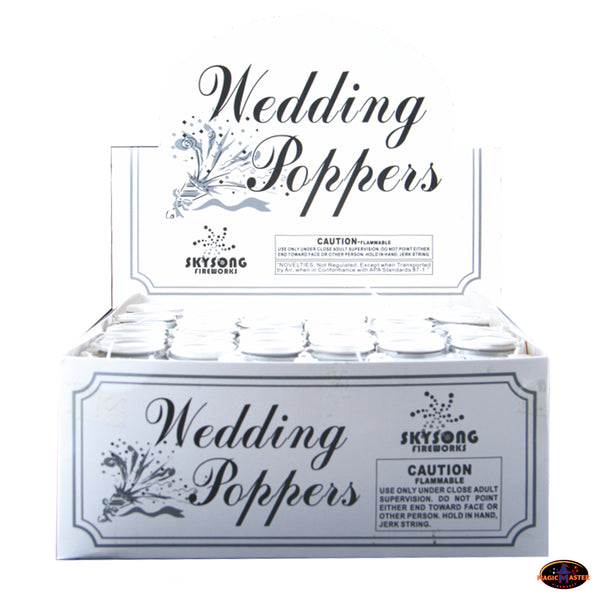 Wedding Party Popper 72 pcs pack w/ Retail Display Box