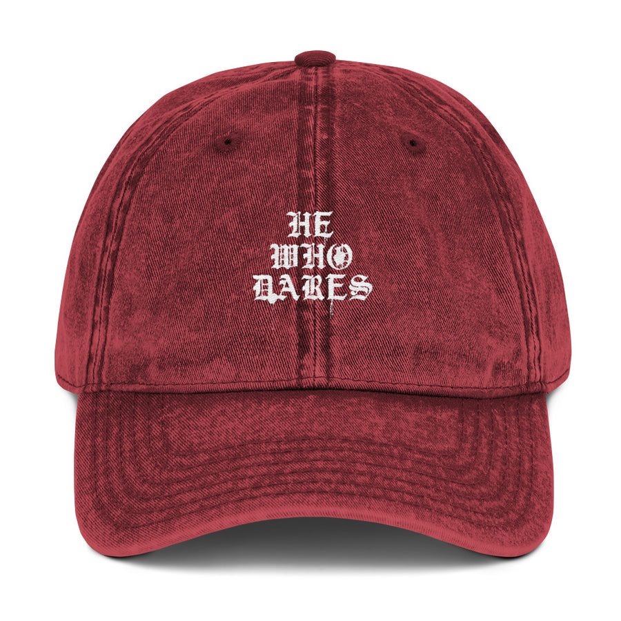 He Who Dares Vintage Cotton Twill Cap