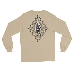 Diamond Long Sleeve Cotton T-Shirt (Sand)