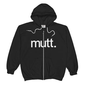 Mutt Unisex Combed Ring-Spun Cotton Zip Hoodie