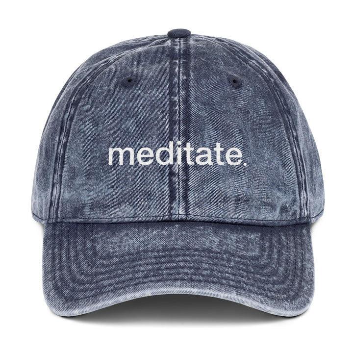 Meditate Vintage Cotton Twill Cap