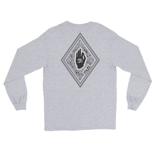 Diamond Long Sleeve Cotton T-Shirt (Grey)