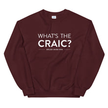 Load image into Gallery viewer, Sólás What's The Craic? Crewneck