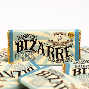 Banging Bizarre®Bar 100g - White chocolate, cinder toffee, marshmallows and popping candy