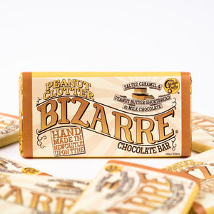 Peanut Clutter Bizarre® Bar 100g - Milk chocolate, shortbread, peanut butter and salted caramel filling