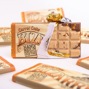 Carrot Cake and Pretzel Bizarre® Bar 100g - White and milk chocolate, salted pretzels and mixed spice