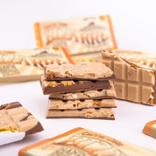 Load image into Gallery viewer, Carrot Cake and Pretzel Bizarre® Bar 100g - White and milk chocolate, salted pretzels and mixed spice