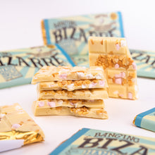 Load image into Gallery viewer, Banging Bizarre®Bar 100g - White chocolate, cinder toffee, marshmallows and popping candy
