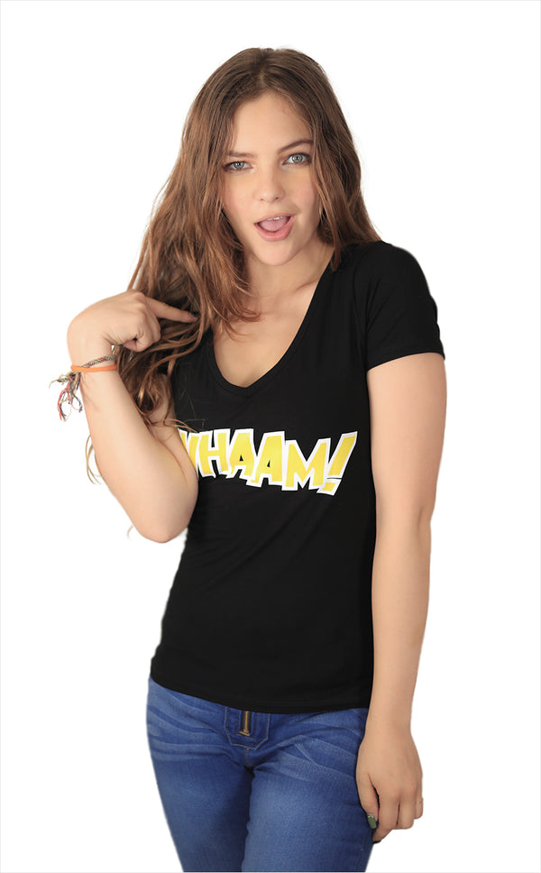 Playera Estampado Amarillo