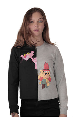 Sudadera dos Colores Pink Panther