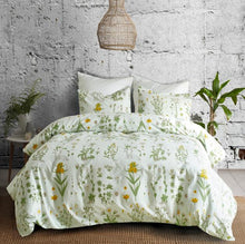 Load image into Gallery viewer, Plant / Flower printed bed linens set Single Double Queen King Sizes pillowcase & duvet cover sets bed cover set new 3pcs linens