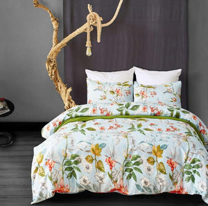 Plant / Flower printed bed linens set Single Double Queen King Sizes pillowcase & duvet cover sets bed cover set new 3pcs linens