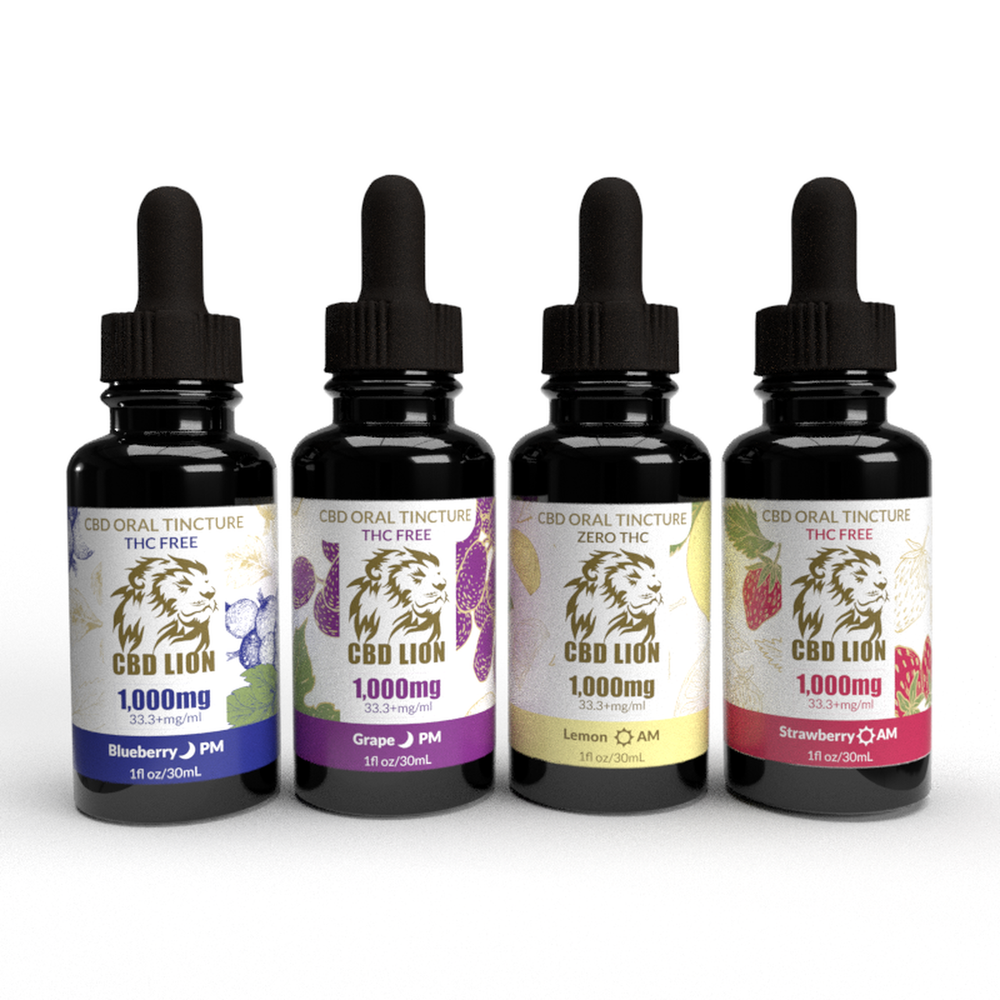 1000mg CBD Tincture 30ml - Flavoured AM / PM