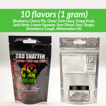 1g Terpene Infused CBD Shatter 970mg+